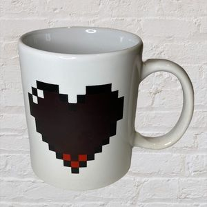 Kikkerland MineCraft Heart Coffee Mug Cup EUC